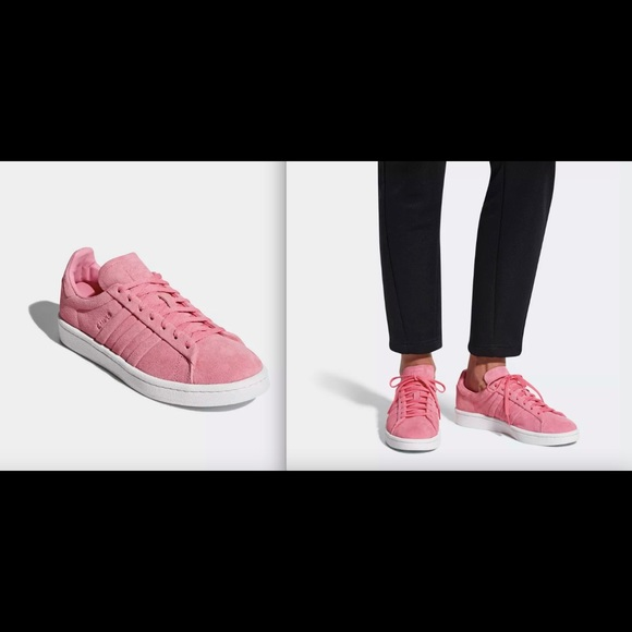 reputable site c6794 7996d Adidas Womens Campus Stitch  Turn Sneaker Pink
